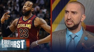 Nick Wright on what went wrong for LeBron's Cavs in Game 2 loss to Boston | NBA | FIRST THINGS FIRST