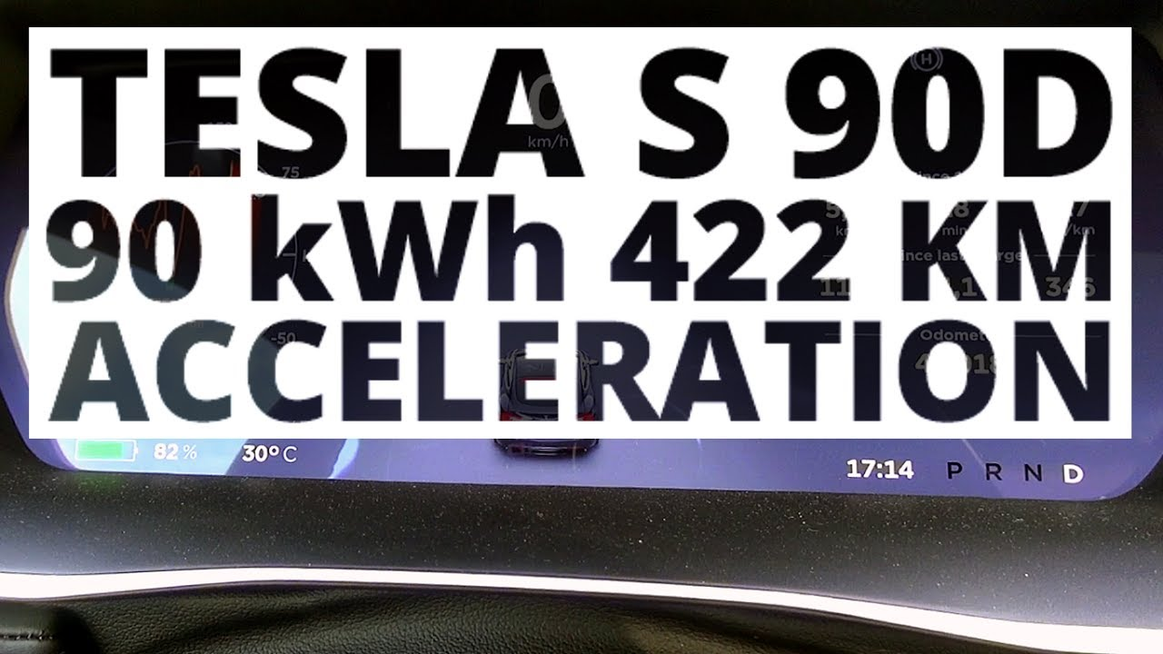 Tesla S 90D 90 kWh 422 hp – acceleration 0-100 km/h