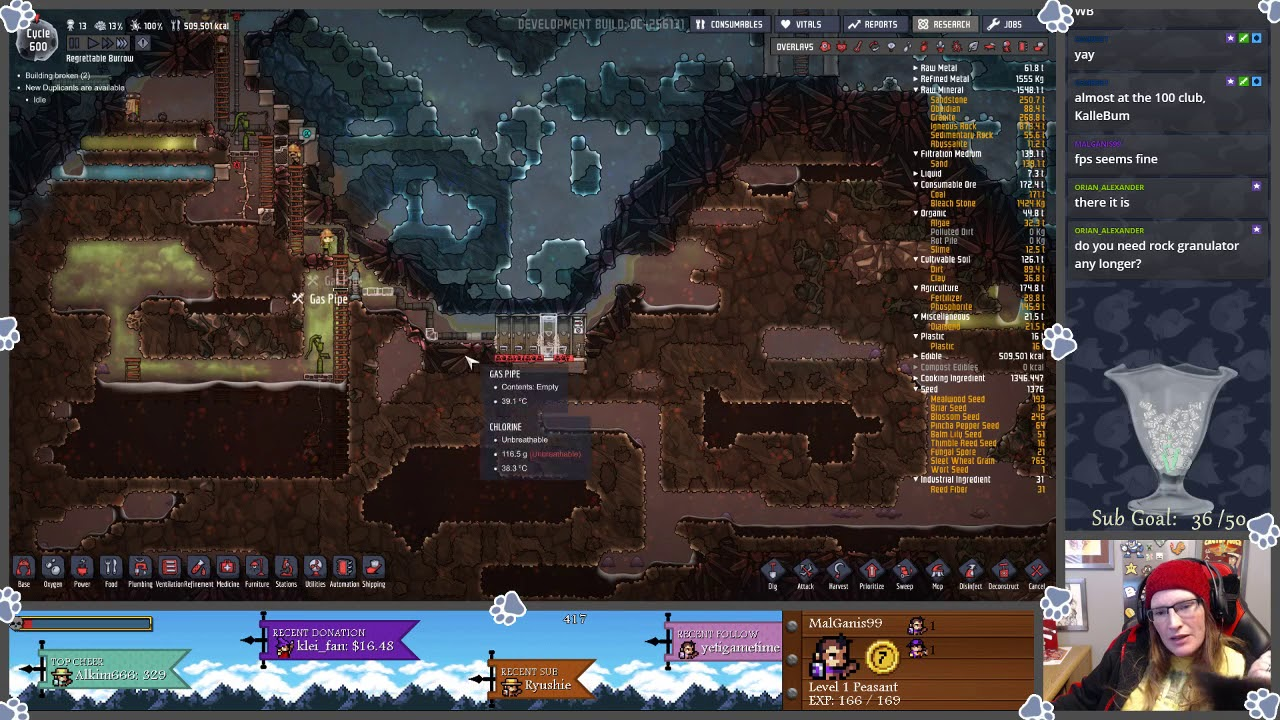 (Oxygen Not Included) Cycle 598-655, Tests Towards Steam Turbine
