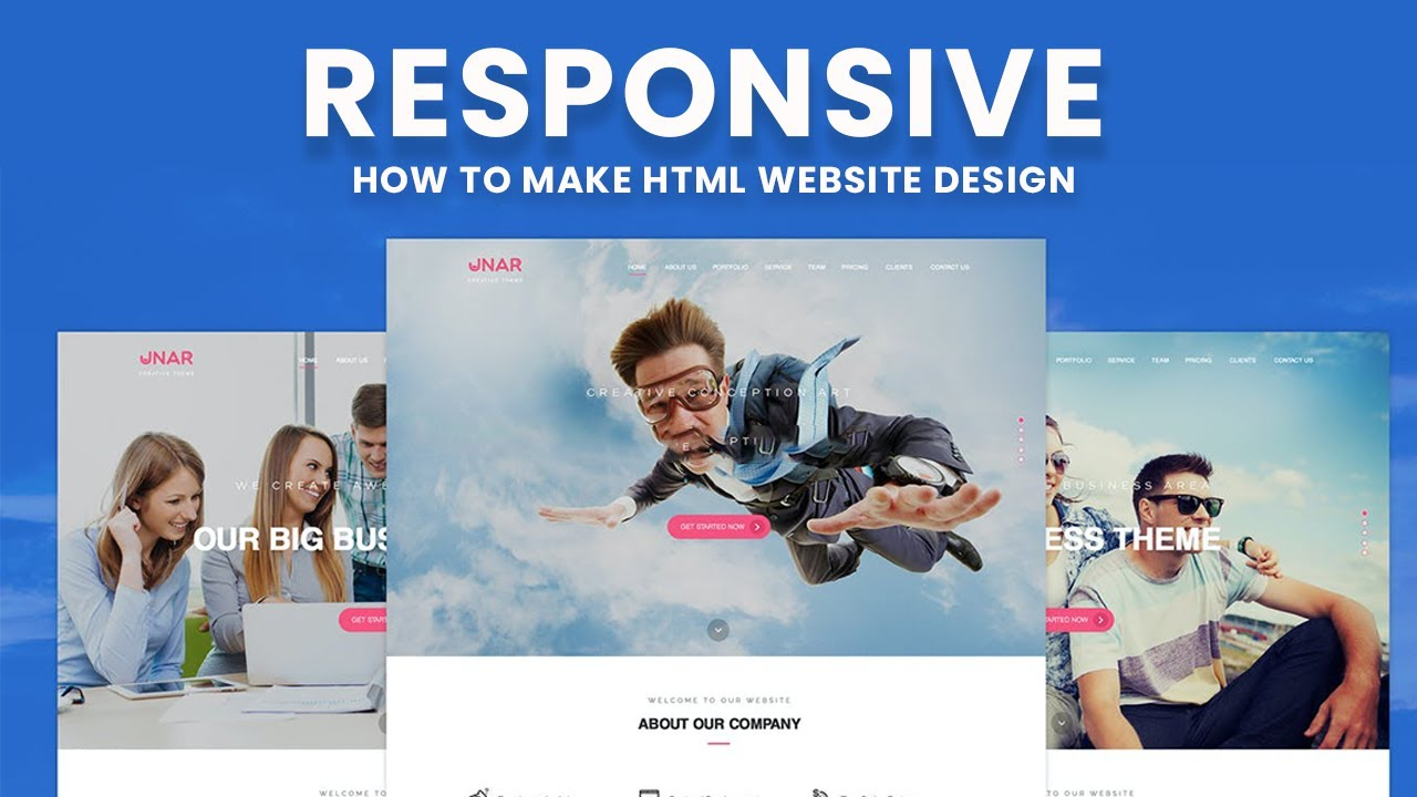 How to Make Website Design with Animated Text in Hero Area using HTML, CSS, Bootstrap and JavaScript