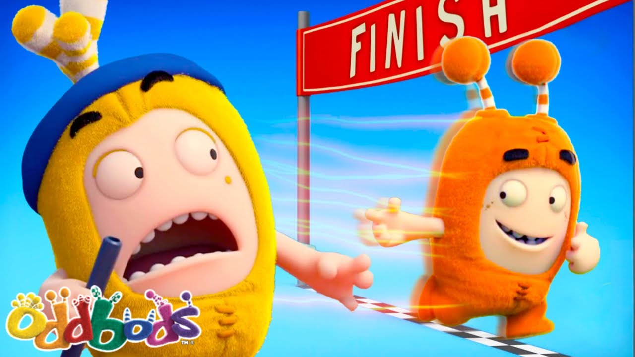 RACE TO THE FINISH LINE ! | Oddbods | NEW | Funny Cartoons For Kids