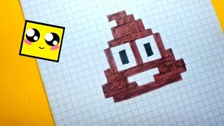 Рисуем по клеточкам-Смайлик Какашки (POO SMILE/Poo Emoji)PIXEL ART !