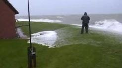 Orkan Xaver auf Hallig Langeness