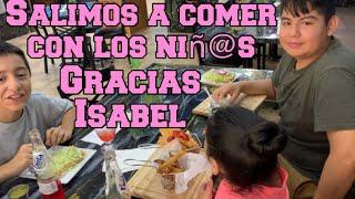 Lleve a los niños a comer gracias Isabel Vlogs🙏🏻 jade también va ir a la escuela😭