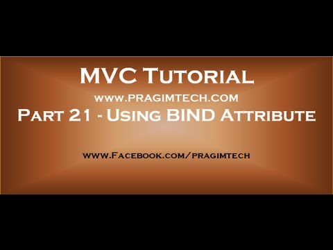 Part 21 Including and excluding properties from model binding using bind  attribute