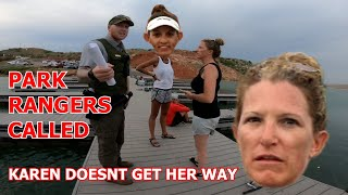 """KAREN"" FREAKS OUT And THROWS 400 DOLLAR FISHING POLE In WATER!!"