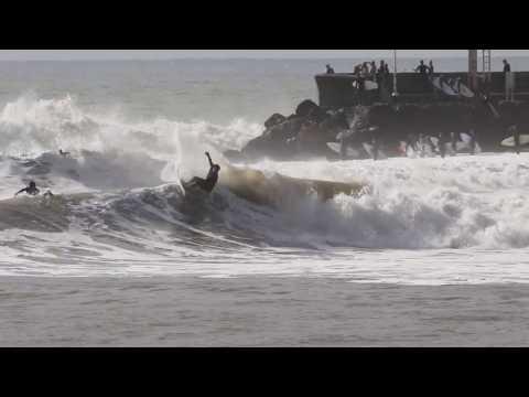 Surfing at Sandspit, Santa Barbara!