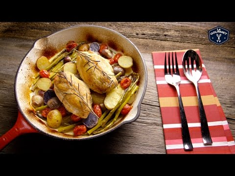 Pan Roasted Chicken Breast with Vegetables || Glen & Friends Cooking