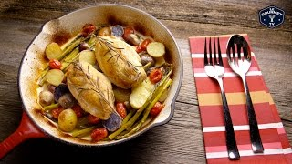 Pan Roasted Chicken Breast with Vegetables - Le Gourmet TV 4K