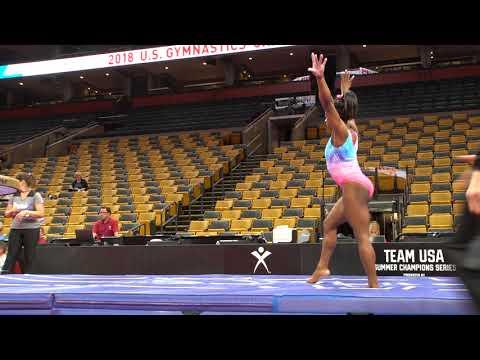 Simone Biles - Vault 1 - 2018 U.S. Gymnastics Championships - Podium Training