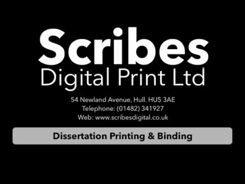 dissertation thesis binding hull Watch best videos about dissertation binding bradford on our tube site.