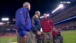 President Bush(s) throw out first pitch at World Series, Game 4 2010.