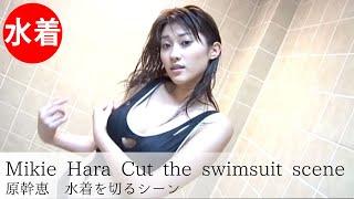 【原幹恵】Japanese grabure idol/Cut the swimsuit scene