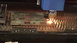 〔光纖雷射金屬切割機〕-板材1000w IPG 10mm cs cutting video。板材雷射切割機。CNC雷射切割機
