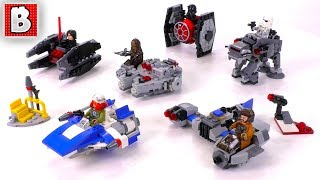 All 2018 LEGO Star Wars Microfighters so far!   Unbox Build Time Lapse Review