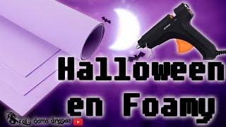 4 Ideas para halloween hechas con Goma eva o foamy / recopilación