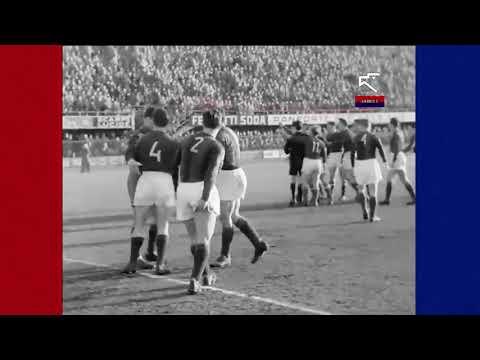 "Fiorentina Bologna 1-3 "" Sospesa all'83° 0-2 a Tavolino ""2 Gennaio 1955"