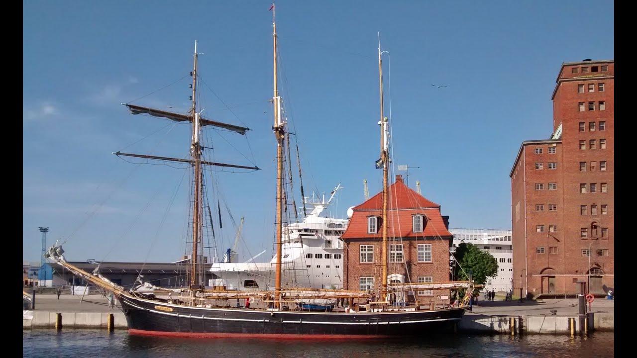 Kogge Wissemara im Alten Hafen Wismar - YouTube