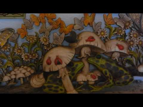 PSYCHEDELIC HIPPIE MUSHROOM WALL ART FROM 1971 AND 1973