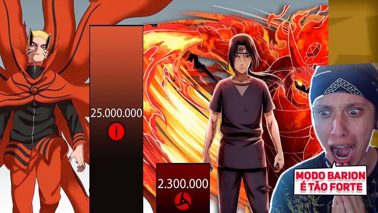 NARUTO VS ITACHI - Quem é o mais forte? ( POWER LEVELS )