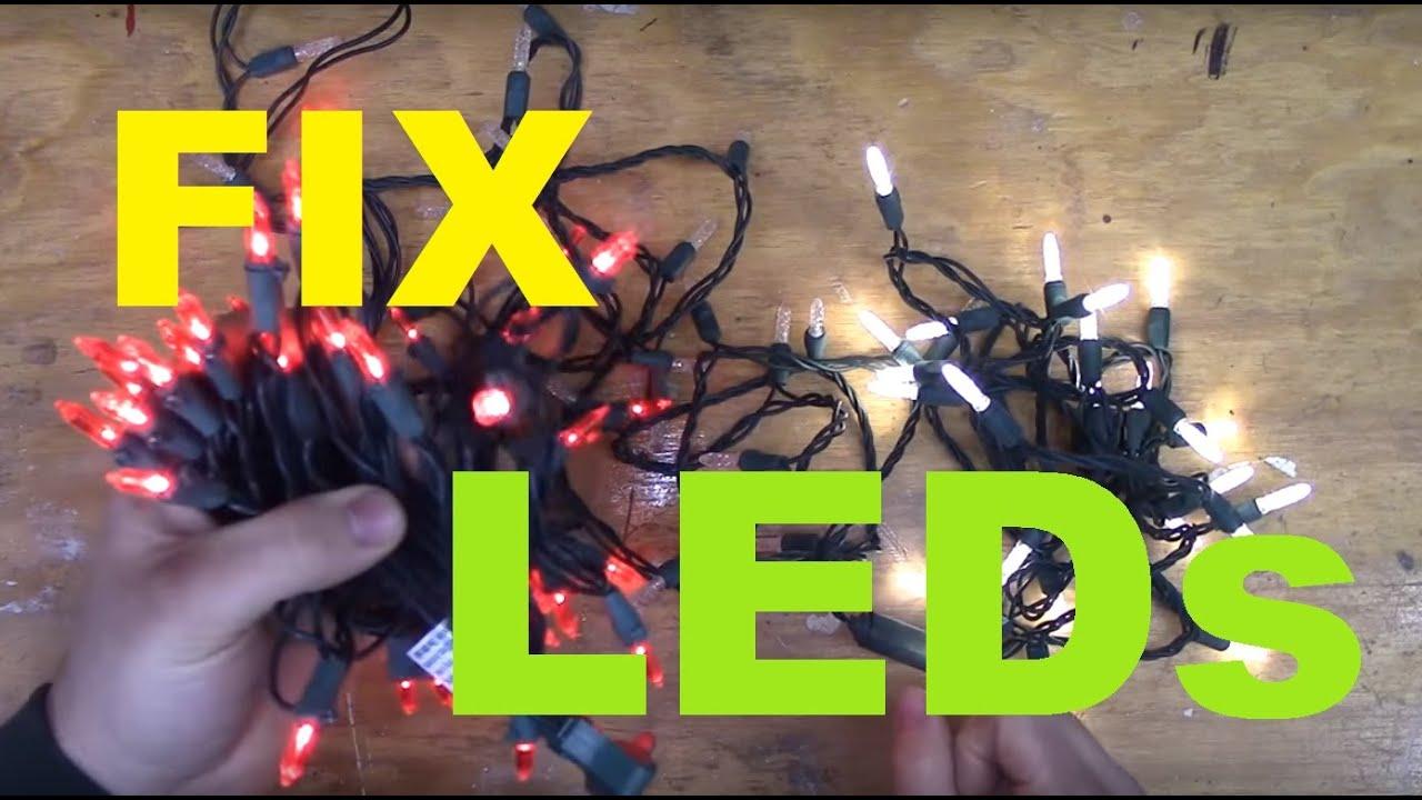 led christmas light string wiring diagram kubota rtv 900 how to fix lights youtube