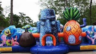 360° Video Spongebob Toddler Bounce House | Call 281-606-5867 | Sky High Party Rentals