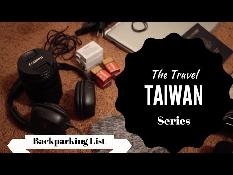 🎒 Backpacking 🇹🇼 Taiwan: The Travel Gear I Brought