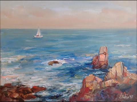 Seascapes,Maritime Art,Seascape Paintings Angelina Nedin artgalleryonline.org