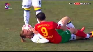 Amedspor 1 - 1 Fenerbahçe maçında insanlık dışı fauller