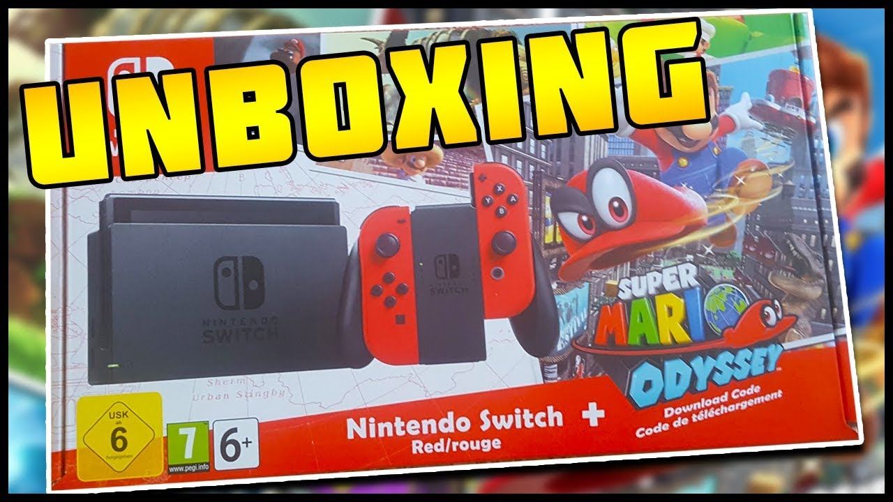 Super Mario Odyssey Limited Edition Switch Unboxing