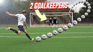 ULTIMATE FREE KICK CHALLENGE vs 2 GOALKEEPERS