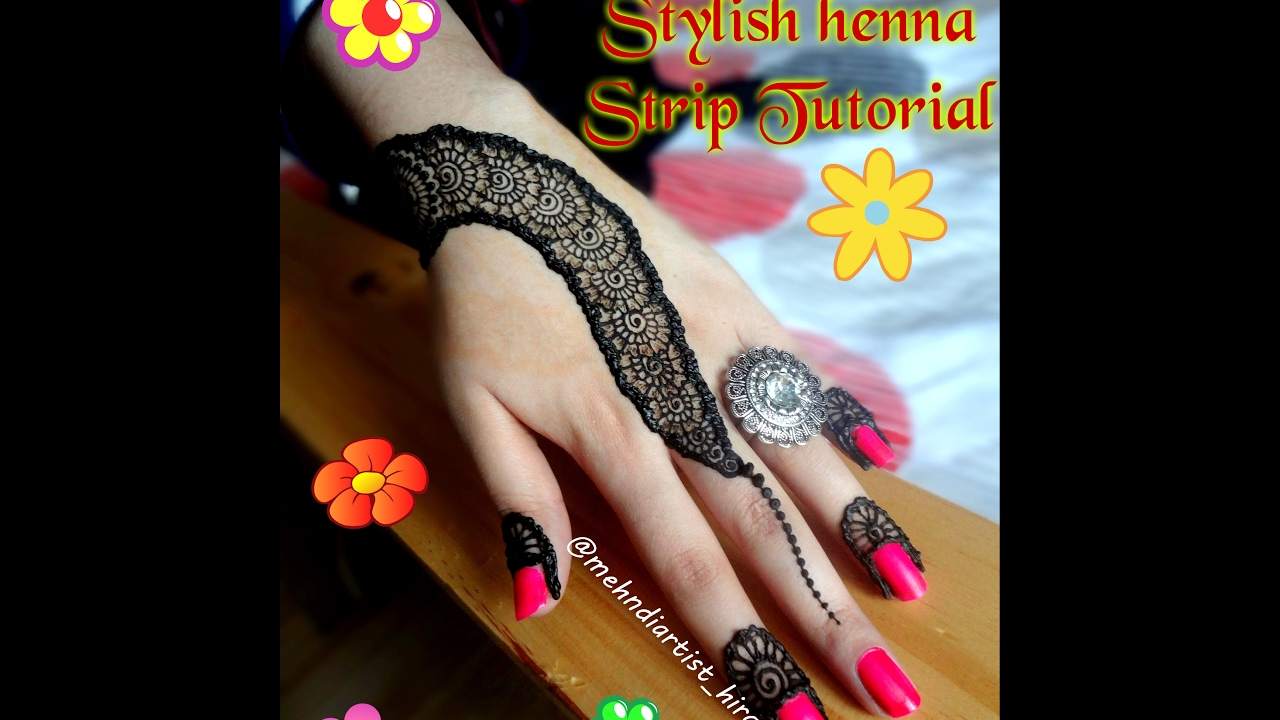 Mehndi design 2017 eid collection - How To Apply Easy Simple Henna Mehndi Designs For Hands Tutorial Eid Weddings 2017