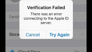 "How To FIx""Verification Failed There was an error connecting to the apple id server 2018"