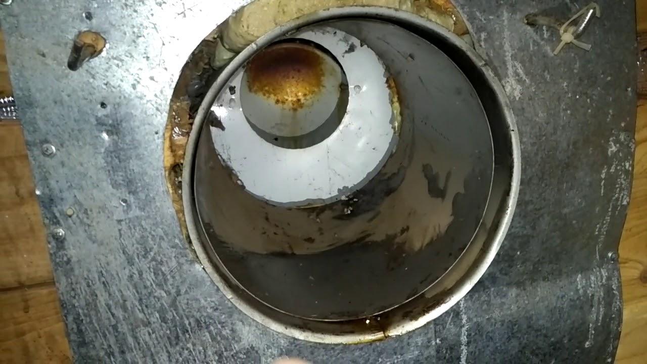 Парапетный газовый котёл АТОН.Течь или конденсат!!!???