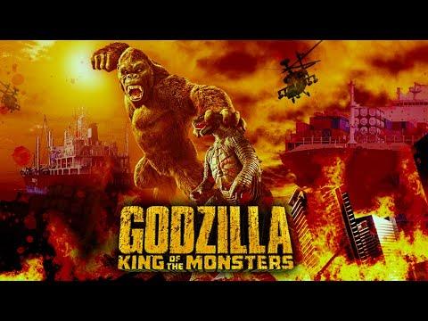 GODZILLA Vs KONG   Concept Art Design   Matte Painting   Photoshop Time Lapse (Speed Art) Hamza MTV