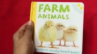 Farm Animals : Read Aloud Read Along board book by Katie Hewit
