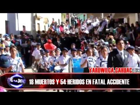 IMPACTO REAL ACCIDENTE FATAL EN CAHUAC YAROWILCA