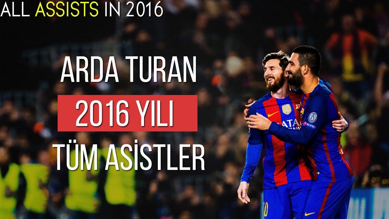 Arda Turan'ın - 2016 Yılında Yaptığı Tüm Asistler | Türkçe Spiker • HD