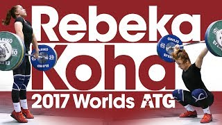 Rebeka Koha Training Hall 2017 World Championships (Snatch, C&J, Pulls, Round Back Deadlift, Jumps)