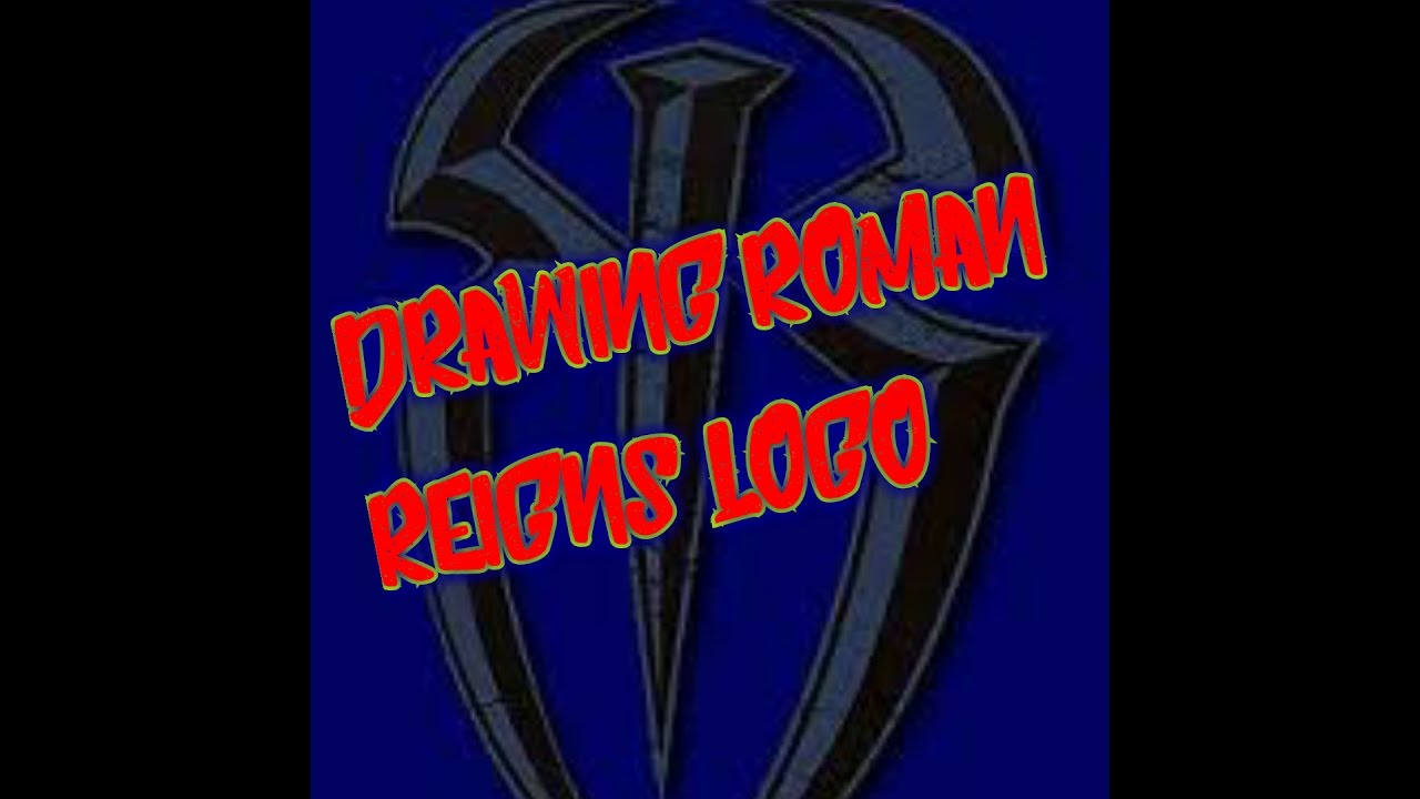 drawing roman reigns logo