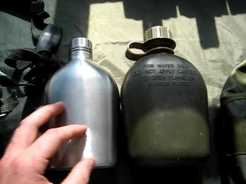 Aluminium Water Bottle Cup Kidney Shape Army /& Military