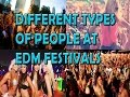 TYPES OF PEOPLE AT EDM FESTIVALS