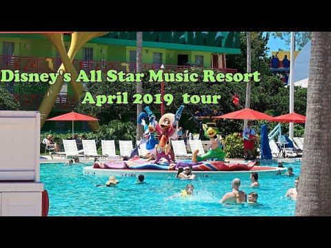 Disney's All Star Music Resort- FULL TOUR - April 2019
