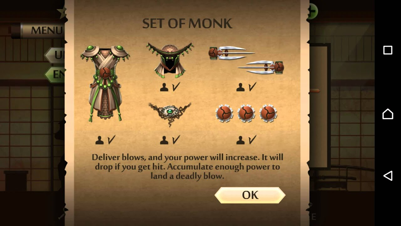 how to get monk set