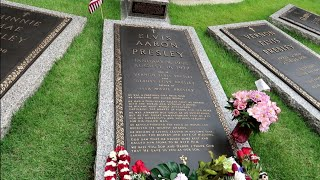 #1042 ELVIS PRESLEY House & Grave FULL Tour Inside GRACELAND  PRIVATE ROOMS - Travel Vlog (6/14/
