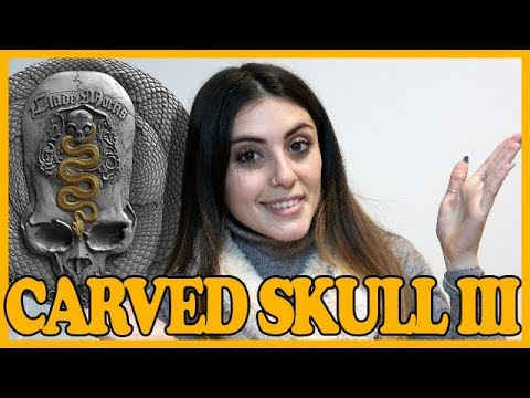 ☠️ CARVED SKULL III ☠️ REVIEW  - Clade Mortis Bones - 1 Oz Silver Coin - Cameroon 2018