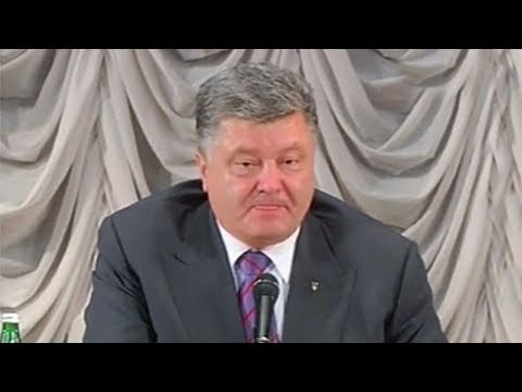 Мертвецки пьяный Порошенко 'спалился' перед камерами