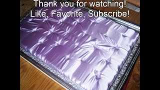 Diy: How To Make A Sufted Satin Headboard With Silver Leaf