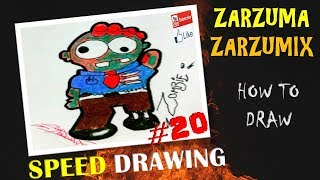 SPEED DRAWING HOW TO DRAW A KAWAII ZOMBIE EASY AND FAST #19