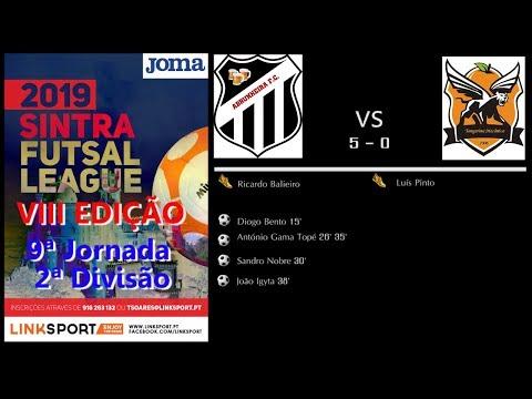 VIII Edição Sintra Futsal League 2ªDiv 9ªJorn Abrunheira vs Tangerina Mecanica 5 - 0